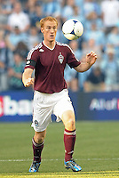 Rapid's midfielder Jeff Larentowicz (4) in action..Sporting Kansas City defeated Colorado Rapids 2-0 in Open Cup play at LIVESTRONG Sporting Park, Kansas City, Kansas.