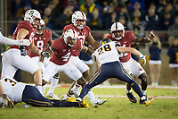 STANFORD, CA - November 18, 2017: Alameen Murphy, Jovan Swann, Dylan Jackson, Mustafa Branch, Ben Edwards at Stanford Stadium. The Stanford Cardinal defeated Cal 17-14 to win its eighth straight Big Game.