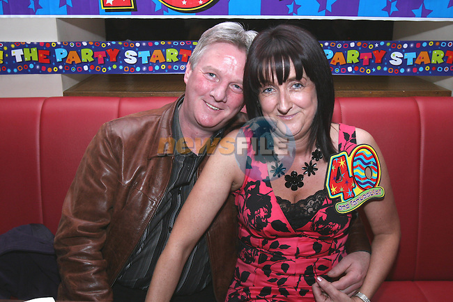 Cyril Traynor and Jane Kavanagh celebrate Jane's 40th in Bru...Photo NEWSFILE/Jenny Matthews.(Photo credit should read Jenny Matthews/NEWSFILE)....This Picture has been sent you under the condtions enclosed by:.Newsfile Ltd..The Studio,.Millmount Abbey,.Drogheda,.Co Meath..Ireland..Tel: +353(0)41-9871240.Fax: +353(0)41-9871260.GSM: +353(0)86-2500958.email: pictures@newsfile.ie.www.newsfile.ie.FTP: 193.120.102.198.