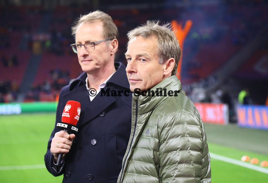Ex-Bundestrainer Jürgen Klinsmann arbeitet jetzt als Experte für RTL - 24.03.2019: Niederlande vs. Deutschland, EM-Qualifikation, Amsterdam Arena, DISCLAIMER: DFB regulations prohibit any use of photographs as image sequences and/or quasi-video.