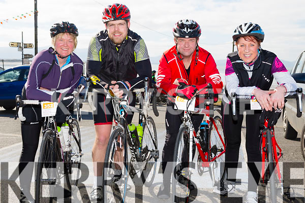 At the St Brendan's NS FENIT Coastal Cycle on Saturday were Sheila McCarthy, Cathal King, Michael Donovan, Carolyn Martin