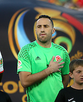 PASADENA - UNITED STATES, 07-06-2016: David Ospina arquero de Colombia (COL) durante los actos protocolarios previo al encuentro del grupo A, fecha 2, con Paraguay (PAR) por la Copa América Centenario USA 2016 jugado en el estadio Rose Bowl en Pasadena, California, USA. /  David Ospina goalkeeper of Colombia (COL) during the formal events prior a match of the group A date 2 against Paraguay (PAR)  for the Copa América Centenario USA 2016 played at Rose Bowl stadium in Pasadena, California, USA. Photo: VizzorImage/ Luis Alvarez /Str