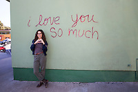 The I Love You So Much mural is perfect spot to take candid photos for birthday, engagement photos and selfies with friends and love ones - Stock Image.