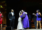 MIAMI, FL - APRIL 30: Ray Lavendar, Candice Pye, Zebulon Ellis and Monica Blaire on stage during 'Hell Hath No Fury Like A Woman Scorned' a musical play created Tyler Perry, on April 30, 2014 in Miami, Florida. (Photo by Johnny Louis/jlnphotography.com)