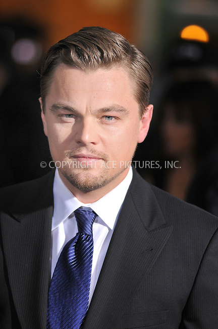 WWW.ACEPIXS.COM . . . . . ....December 15 2008, Hollywood....Actor Leonardo DiCaprio at the World Premiere of Dreamworks Pictures and Paramount Vantage film 'Revolutionary Road' on December 15, 2008 at Mann's Village Theatre in Westwood, California.....Please byline: JOE WEST- ACEPIXS.COM.. . . . . . ..Ace Pictures, Inc:  ..(646) 769 0430..e-mail: info@acepixs.com..web: http://www.acepixs.com