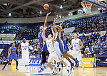 January 2, 2016 - Colorado Springs, Colorado, U.S. -  San Jose State center, Leon Bahner #25, reaches for a rebound during an NCAA basketball game between the San Jose State Spartans and the Air Force Academy Falcons at Clune Arena, U.S. Air Force Academy, Colorado Springs, Colorado.  Air Force defeats San Jose State 64-57.