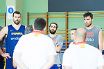 (L to R) Marc Gasol, Ricky Rubio and Pierre Oriola during the training of Spanish National Team of Basketball in Madrid previous to World Cup in China . August 21, 2019. (ALTERPHOTOS/Francis González)