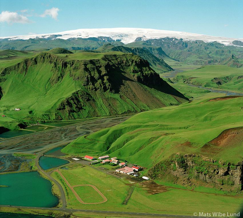 Höfðabrekka, Mýrdalsjökull, Mýrdalshreppur áður Hvammshreppur /.Hofdabrekka, Myrdalsjokull glacier, Myrdalshreppur former Hvammshreppur.