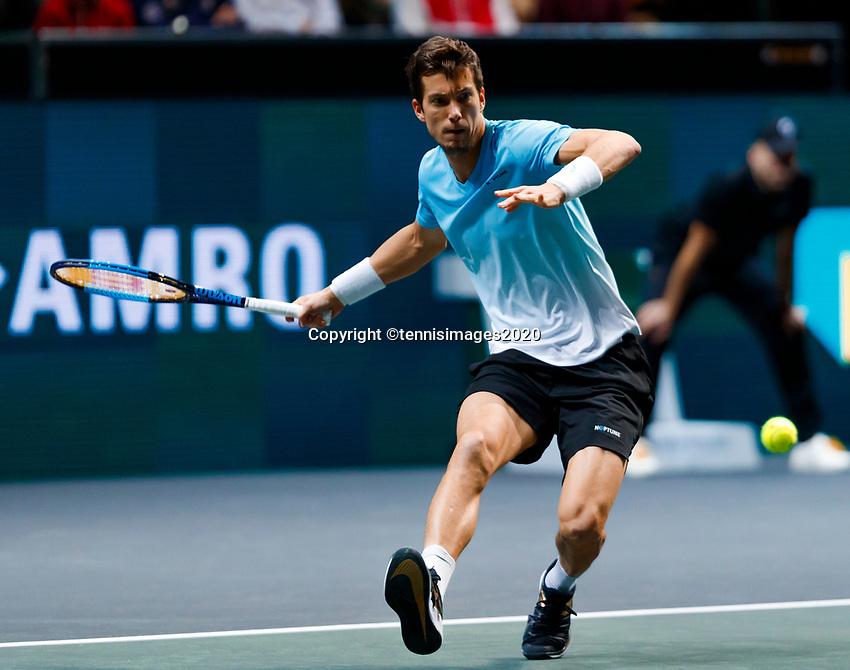 Rotterdam, The Netherlands, 14 Februari 2020, ABNAMRO World Tennis Tournament, Ahoy,   Aljaz Bedene (SLO).<br /> Photo: www.tennisimages.com
