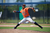Houston Astros pitcher Ernesto Jaquez (54) during a Minor League Spring Training Intrasquad game on March 28, 2019 at the FITTEAM Ballpark of the Palm Beaches in West Palm Beach, Florida.  (Mike Janes/Four Seam Images)