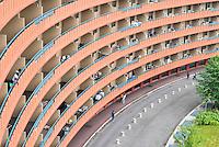 Il residence Ripamonti, in cui vengono alloggiati i profughi provenienti dalla Libia. Pieve Emanuele (Milano), 26 maggio 2011...Ripamonti Residence, where were lodged fugitives from Libya. Pieve Emanuele (Milan), May 26, 2011