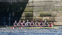 Mortlake/Chiswick, GREATER LONDON. United Kingdom. Mortlake AABC, W.MasB.8+, competing in the 2017 Vesta Veterans Head of the River Race, The Championship Course, Putney to Mortlake on the River Thames.<br /> <br /> <br /> Sunday  26/03/2017<br /> <br /> [Mandatory Credit; Peter SPURRIER/Intersport Images]