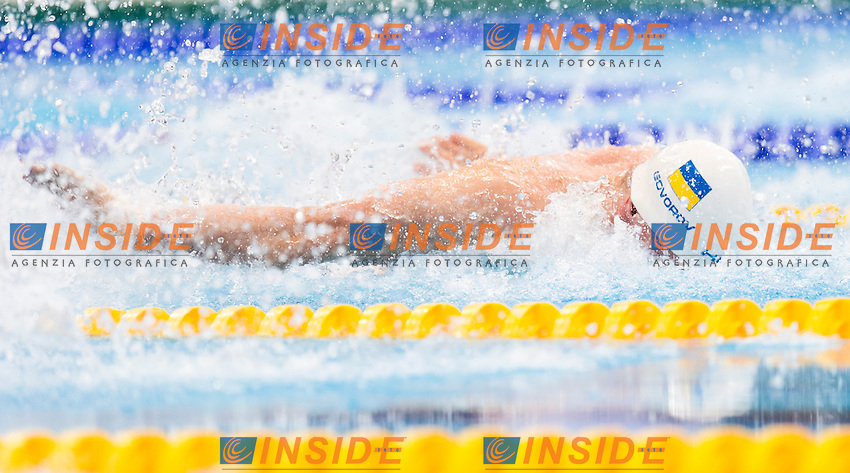 GOVOROV Andriy UKR gold medal<br /> London, Queen Elizabeth II Olympic Park Pool <br /> LEN 2016 European Aquatics Elite Championships <br /> Swimming<br /> Men's 50m butterlfy final <br /> Day 09 17-05-2016<br /> Photo Giorgio Perottino/Deepbluemedia/Insidefoto