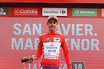Rudy Molard (FRA) Groupama-FDJ retains the race leaders Red Jersey at the end of Stage 6 of the La Vuelta 2018, running 150.7km from Hu&eacute;rcal-Overa to San Javier, Mar Menor, Sierra de la Alfaguara, Andalucia, Spain. 30th August 2018.<br /> Picture: Colin Flockton | Cyclefile<br /> <br /> <br /> All photos usage must carry mandatory copyright credit (&copy; Cyclefile | Colin Flockton)