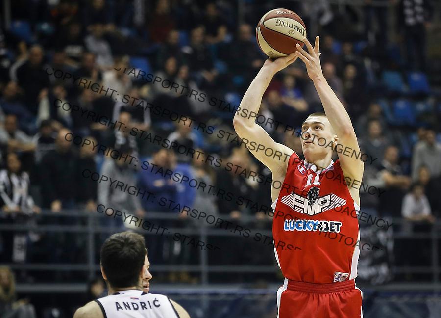 Kosarka ABA League season 2016-2017<br /> Partizan v FMP<br /> Stefan Lazarevic (R)<br /> Beograd, 21.01.2017<br /> foto: Srdjan Stevanovic/Starsportphoto &copy;