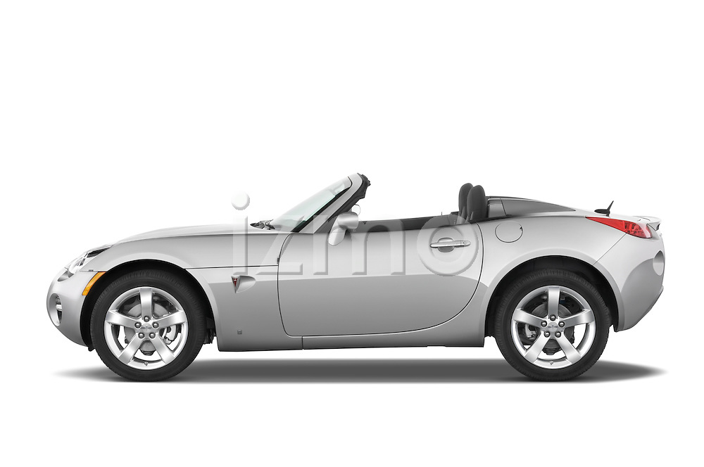 Driver side profile view of a 2008 Pontiac Solstice.