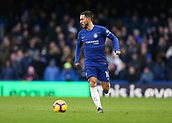 2nd February 2019, Stamford Bridge, London, England; EPL Premier League football, Chelsea versus Huddersfield Town; Eden Hazard of Chelsea controls the ball