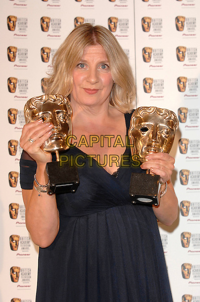 VICTORIA WOOD.At The British Academy Television Awards (BAFTA) Sponsored by Pioneer, held at the London Palladium, London, England, May 20th 2007..half length blue dress trophies awards.CAP/FIN.©Steve Finn/Capital Pictures.