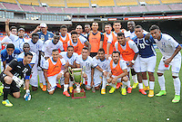Washington D.C. - May 31, 2015: Honduras defeated El Salvador 2-0 for the Delta Cup at RFK Stadium.