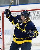 Karl Stollery (Merrimack - 7) - The visiting Merrimack College Warriors defeated the Northeastern University Huskies 4-3 (OT) on Friday, February 4, 2011, at Matthews Arena in Boston, Massachusetts.