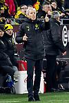 14.02.2020, Signal Iduna Park, Dortmund, GER, 1. BL, Borussia Dortmund vs Eintracht Frankfurt, DFL regulations prohibit any use of photographs as image sequences and/or quasi-video<br /> <br /> im Bild / picture shows / Lucien Favre (Borussia Dortmund) Gestik / Geste / gestikuliert / <br /> <br /> Foto © nordphoto/Mauelshagen