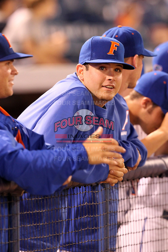 """Florida Gators Daniel Gibson #6 during a game vs. the Florida State Seminoles in the """"Florida Four"""" at George M. Steinbrenner Field in Tampa, Florida;  March 1, 2011.  Florida State defeated Florida 5-3.  Photo By Mike Janes/Four Seam Images"""