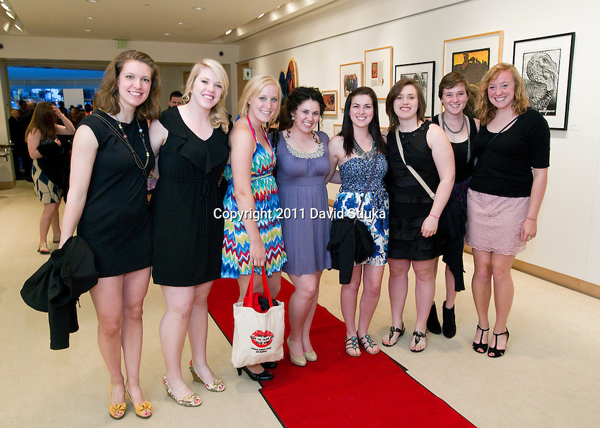UW Athletes arrive with friends and family at the 2011 Buckinghams Academic Awards Show in Madison, Wisconsin on April 25, 2011. (Photo by David Stluka)