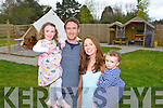 Linda and Mike O'Sullivan with their children Esme and Fiadh from Grove Lane Glamping at their new site in Killarney