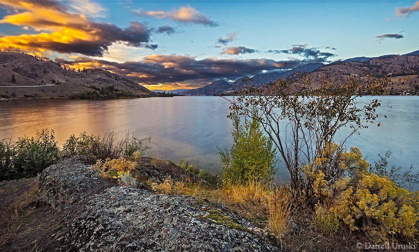 Fine Art Landscape Photograph of the twlight hours on Skaha Lake in the Okanagan valley in British Columbia, Canada.<br /> Email me to order a signed fine art photograph.