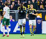 ***BETALBILD***  <br /> Stockholm 2015-09-27 Fotboll Allsvenskan Hammarby IF - AIK :  <br /> AIK:s Henok Goitom deppar under matchen mellan Hammarby IF och AIK <br /> (Foto: Kenta J&ouml;nsson) Nyckelord:  Fotboll Allsvenskan Tele2 Arena Hammarby HIF Bajen AIK Derby depp besviken besvikelse sorg ledsen deppig nedst&auml;md uppgiven sad disappointment disappointed dejected