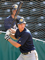 May 22, 2008: Infielder Carmen Angelini (5) of the Charleston RiverDogs, Class A affiliate of the New York Yankees, prior to a game against the Greenville Drive at Fluor Field at the West End in Greenville, S.C. Photo by:  Tom Priddy/Four Seam Images