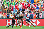 Russia vs Papua New Guinea during the HSBC Sevens Wold Series Qualifier match as part of the Cathay Pacific / HSBC Hong Kong Sevens at the Hong Kong Stadium on 28 March 2015 in Hong Kong, China. Photo by Xaume Olleros / Power Sport Images