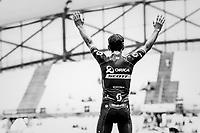 white jersey / best young rider Simon Yates (GBR/Orica-Scott) on the impressive Marseille Vélodrome podium<br /> <br /> 104th Tour de France 2017<br /> Stage 20 (ITT) - Marseille › Marseille (23km)