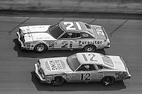 NEIL BONNETT, #21 MERCURY, Lennie Pond, #12 Oldsmobile, 1979 Firecracker 400 NASCAR race, Daytona International Speedway, Daytona Beach, FL, July 4, 1979.  (Photo by Brian Cleary/ www.bcpix.com )