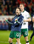 9th October 2017, Cardiff City Stadium, Cardiff, Wales; FIFA World Cup Qualification, Wales versus Republic of Ireland; Harry Arter celebrates at full time