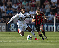 Bournemouth's Ryan Fraser (right) vies for possession with Fulham's Ryan Sessegnon (left) <br /> <br /> Photographer David Horton/CameraSport<br /> <br /> The Premier League - Bournemouth v Fulham - Saturday 20th April 2019 - Vitality Stadium - Bournemouth<br /> <br /> World Copyright © 2019 CameraSport. All rights reserved. 43 Linden Ave. Countesthorpe. Leicester. England. LE8 5PG - Tel: +44 (0) 116 277 4147 - admin@camerasport.com - www.camerasport.com