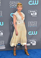 Haley Bennett at the 23rd Annual Critics' Choice Awards at Barker Hangar, Santa Monica, USA 11 Jan. 2018<br /> Picture: Paul Smith/Featureflash/SilverHub 0208 004 5359 sales@silverhubmedia.com