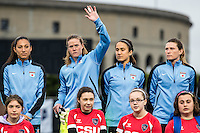 Allston, MA - Saturday, May 07, 2016: Chicago Red Stars goalkeeper Alyssa Naeher (1) makes her return for a regular season National Women's Soccer League (NWSL) match at Jordan Field.