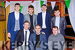 Conor Keane, Billy, Ciaran Lyne, Back row: Finbarr Murphy, Ryan O'Grady, Donal Lyne and Peter McCArthy at the Legion GAA social in the Killarney Avenue Hotel on Friday night