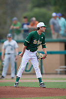 USF Bulls starting pitcher Ben Koff (47) looks in for the sign during a game against the Dartmouth Big Green on March 17, 2019 at USF Baseball Stadium in Tampa, Florida.  USF defeated Dartmouth 4-1.  (Mike Janes/Four Seam Images)
