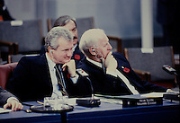 Ottawa CANADA - file photo ca 1987 - Roy Buchanan, Nova-Scotia Premier at the Annual Premiers Conference in Ottawa