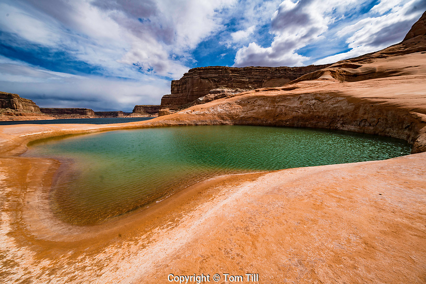 The Big Pool, Glen Canyon National Recreation Area, Utah  Pool in rock enclosure at Lake Powell