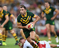 Cameron Smith.<br /> RLWC Mens Final.<br /> Australia v England.<br /> Suncorp Stadium. Brisbane, Australia<br /> Saturday 2 December 2017.<br /> Picture : NRL Photos MANDATORY CREDIT/BYLINE : Tertius Pickard/SWpix.com/PhotosportNZ