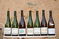 A range of Baumard Loire wines. Domaine des Baumard, Rochefort, Anjou, Loire, France