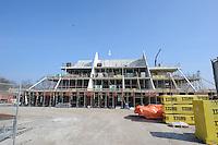 ALGEMEEN: LANGWEER: 28-03-2014, Aannemingsbedrijf Friso uit Balk bouwt voor<br /> Woningcorporatie Wonen Zuidwest Friesland het woonzorgcomplex van Maeykehiem in Langweer. Het gebouw biedt in de toekomst huisvesting en intensieve zorg aan 27 cli&euml;nten met een verstandelijke en/of een lichamelijke beperking, &copy;foto Martin de Jong