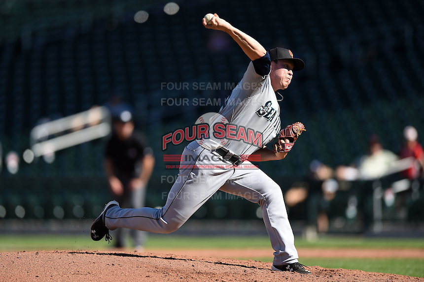 Surprise Saguaros pitcher Matt Anderson (39) during an Arizona Fall League game against the Mesa Solar Sox on October 17, 2014 at Cubs Park in Mesa, Arizona.  Mesa defeated Mesa 5-3.  (Mike Janes/Four Seam Images)