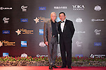 Michael Douglas (left) during the Red Carpet event at the World Celebrity Pro-Am 2016 Mission Hills China Golf Tournament on 20 October 2016, in Haikou, China. Photo by Weixiang Lim / Power Sport Images