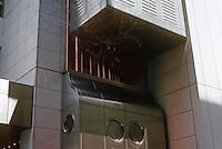 Osaka: Sony Tower. Kisho Kurokawa, architect. Photo '82.