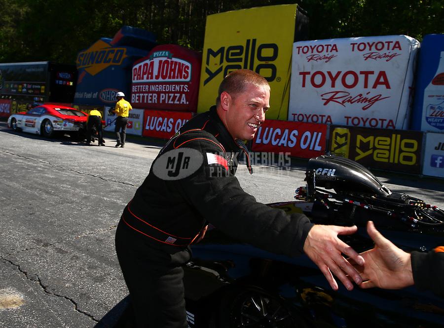 May 7, 2017; Commerce, GA, USA; NHRA pro mod driver Steve Jackson during the Southern Nationals at Atlanta Dragway. Mandatory Credit: Mark J. Rebilas-USA TODAY Sports