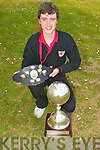 WORLD CHAMPION: John Fitzgerald, Brandon who won the An Collmisiu?n Le Ringi? Gaelacha World Championship in Glasgow at the Easter weekend at Mea?n Scoil Nua An Leith Triuigh, Castlegregory on Friday.